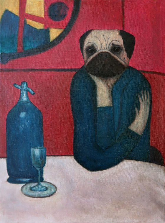 Pugasso – Absinth lover (inspired by Pablo Picasso)
