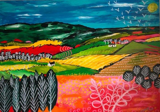Auchnagatt Hills - Scottish large landscape