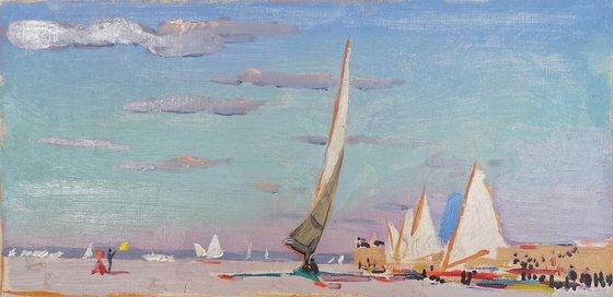 Sand yachting, racing (Winter ice racing)