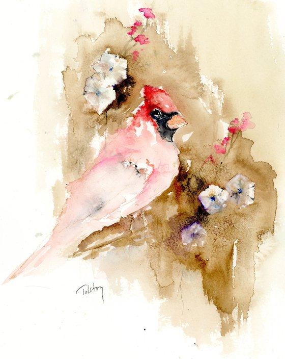 Cardinal and Bindweed