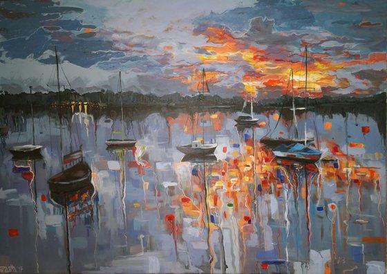 """""""Sea strings"""", 70x50cm, (27.56""""x19.68""""), acrylic on canvas"""