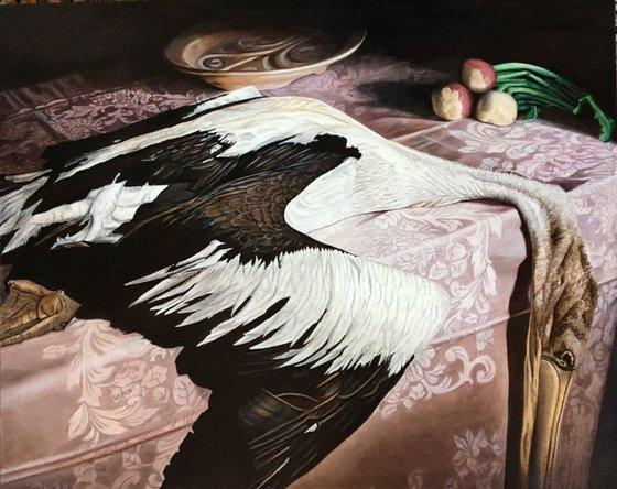 Pelican in distress