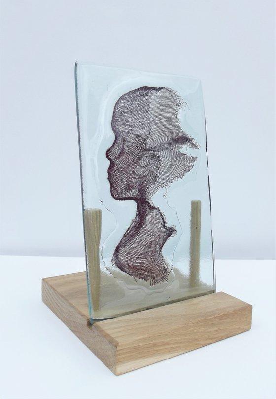 Glass and Copper Silhouette
