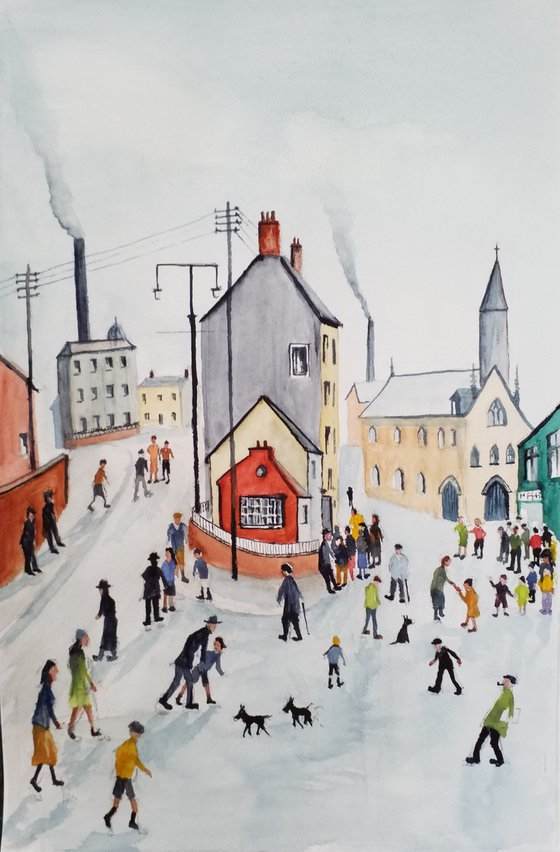 A Street in Clitheroe after L.S.LOWRY