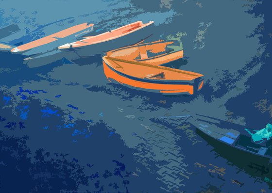 Muted Boats Upon the shore