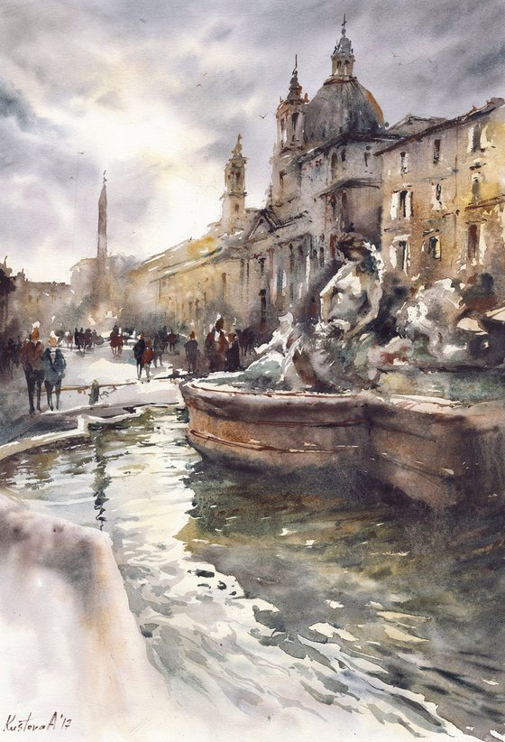 Piazza Navona. Rome 38x56cm