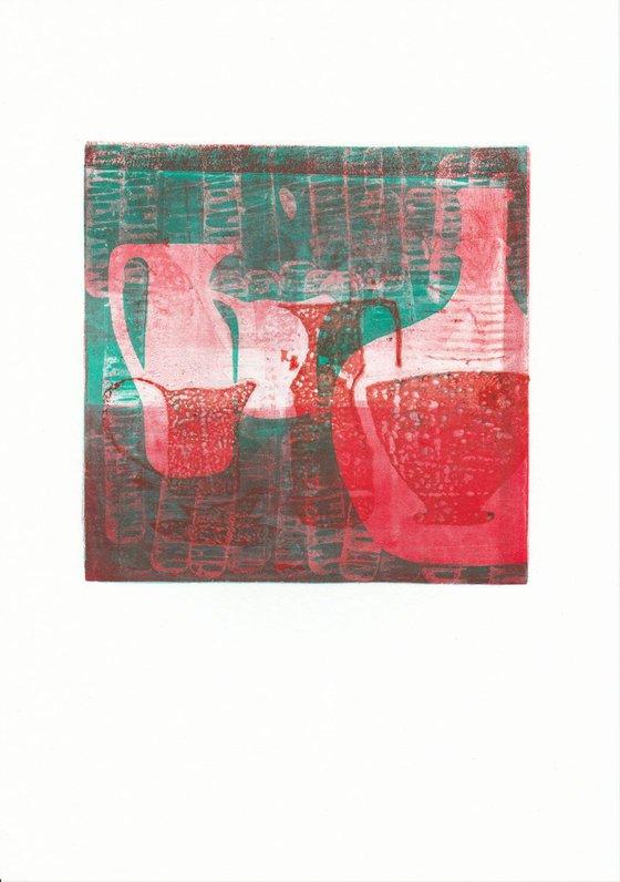 Monoprint - Still life no. 9