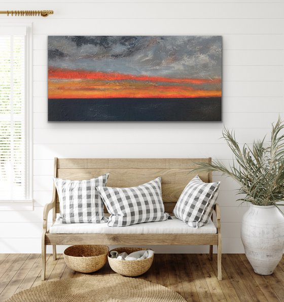 Dreaming - Rectangular - Colours- Sunset - Abstract - Landscape