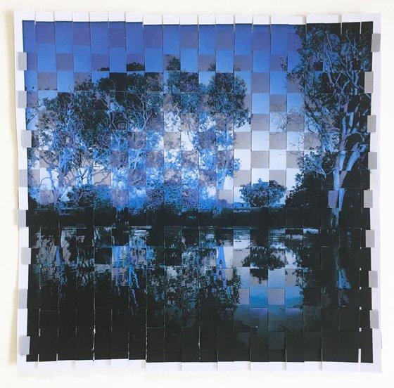 blue river photo weave