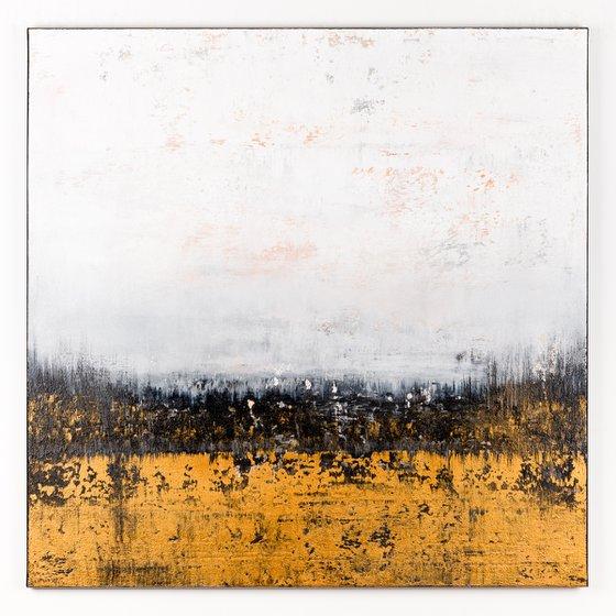 Gold abstract painting KE914