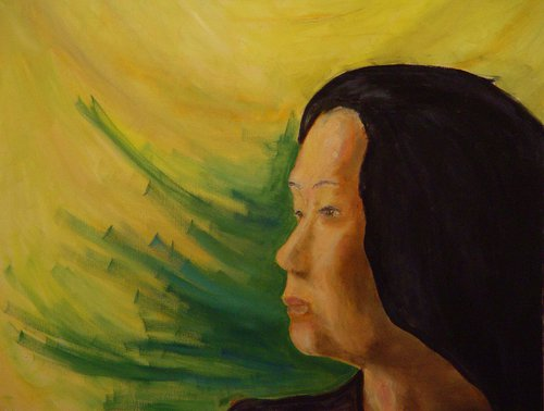 Pacific Islander, Portrait Of A Regal Woman