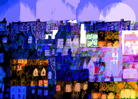 Collage Town by the Sea
