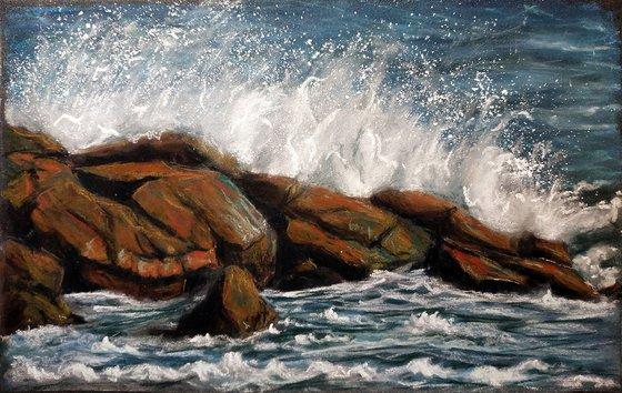 Splashing the rocks