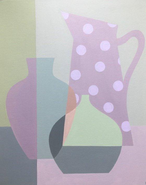 Lilac Spotty Jug