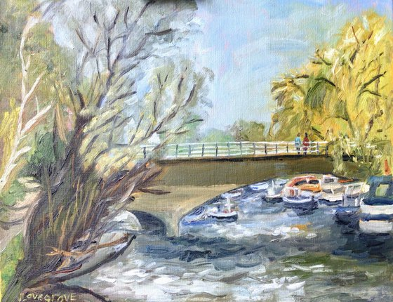 On the Stour, An original oil painting