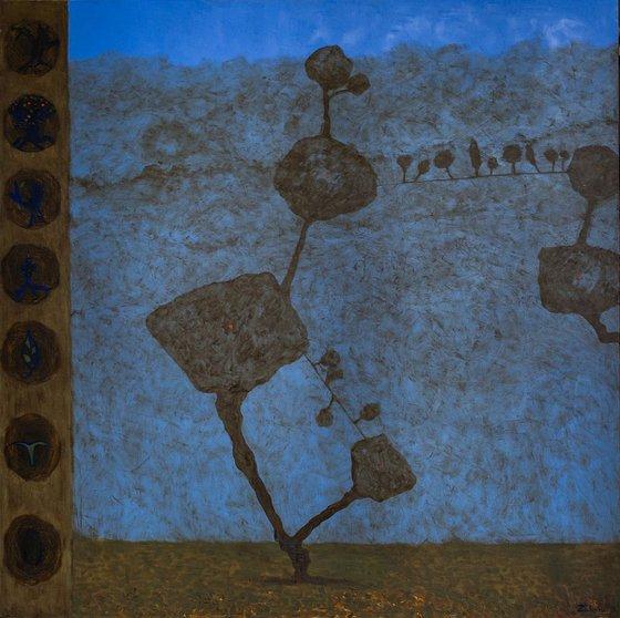 Pieces Of Unreal (140x140 cm)