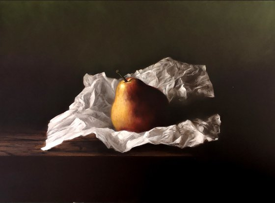 Pear and paper