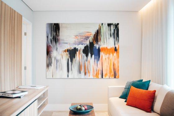 Extra large painting I Melting vision I 195x160x4cm