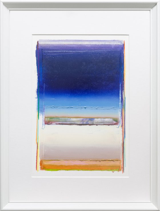 Modern Abstract Oil Painting, BREATHE- A#05, 30x40cm, Framed and Ready to Hang