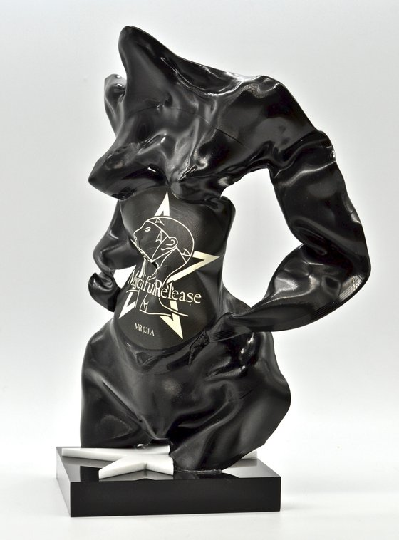 "Vinyl Music Record Sculpture - ""Phantom Stars"""