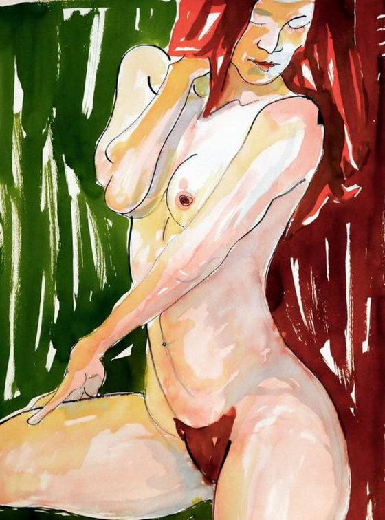Red Haired  Female Nude