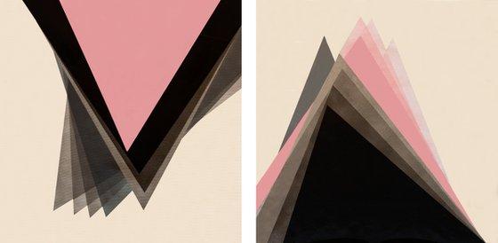 Geometric Soul - Diptych