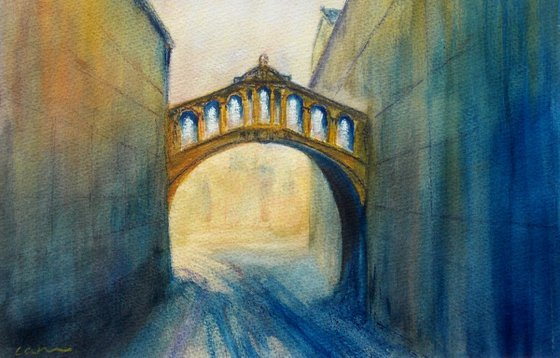 Oxford, Hertford Bridge from New College Lane