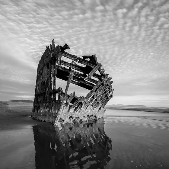 Old shipwreck near Astoria, Oregon.