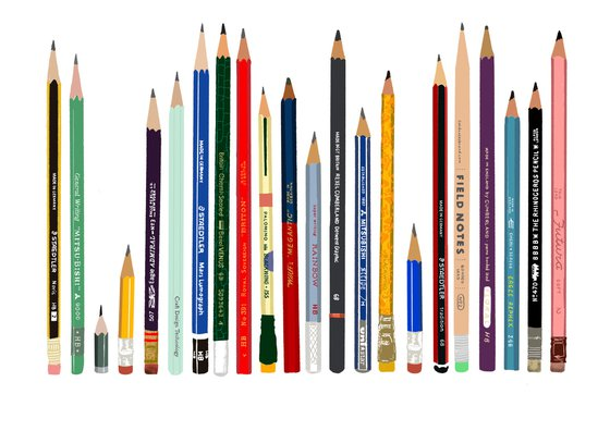 Pencils - limited-edition, giclee print