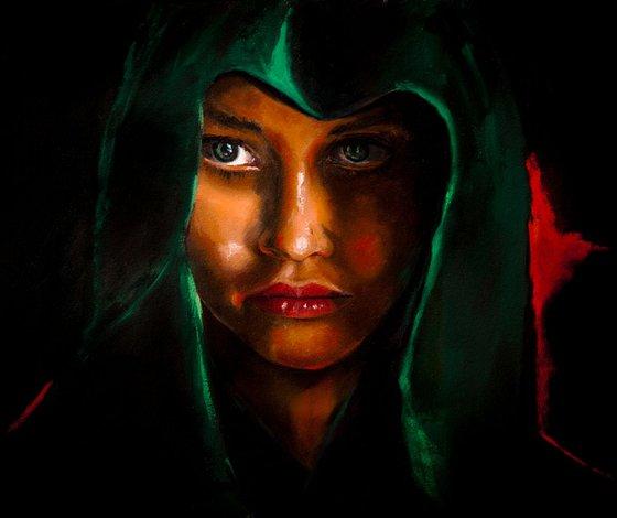 Lady In Green Hood
