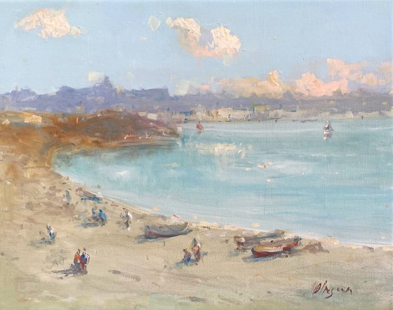 Coastal, Original oil Painting, Handmade artwork, Signed, One of a Kind