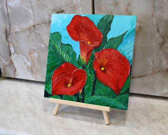 Callas flowers (25 X 25 cm)