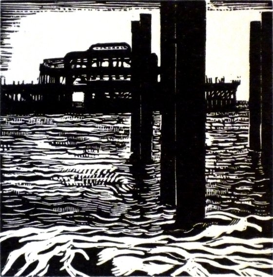 [framed] Brighton West Pier