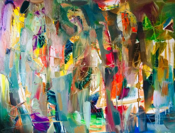 Happy day (75x90cm oil/canvas, ready to hang)