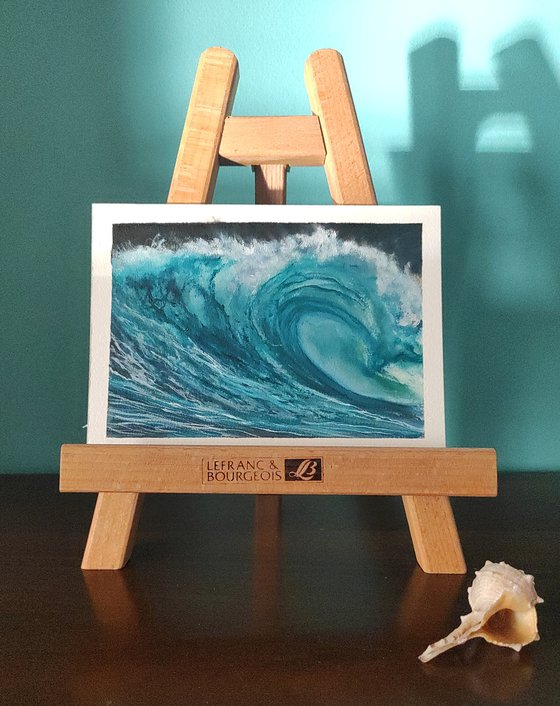 seascape wave on paper #005