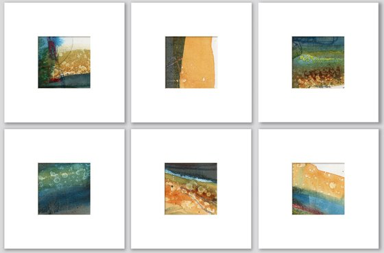 Abstract Composition Collection 15 - 6 Abstract Paintings by Kathy Morton Stanion