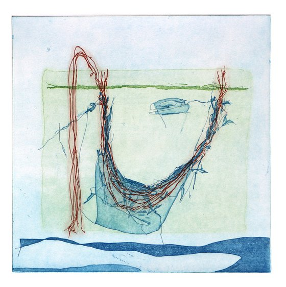 """Heike Roesel """"You turn"""" fine art etching, edition of 20"""