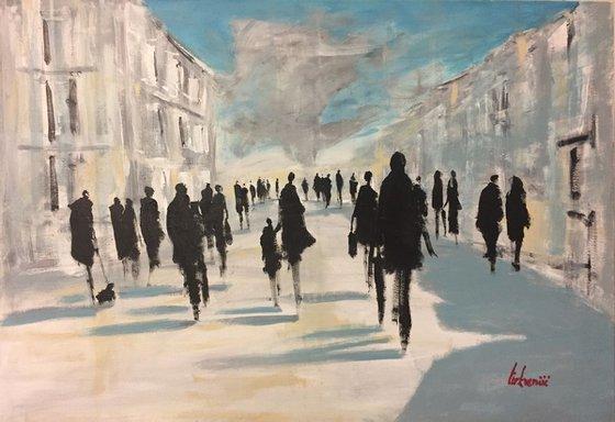 People walking #1 100x70cm