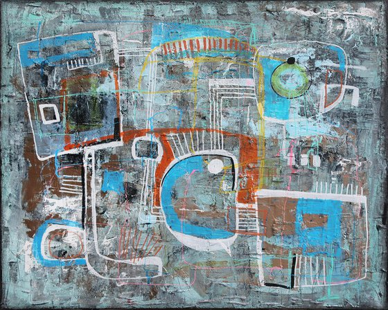 A167 (Contemporary abstract Spiritual Architecture Landscape Acrylic on canvas Large wall art Painting Series)