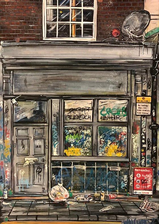 Tagged Shopfront   - Stokes Croft