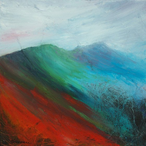 Abstract Pennine English mountain landscape