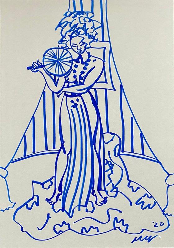 Ziggi Flame, Life Drawing Session, The Cavendish Arms, Stockwell, LDN, UK