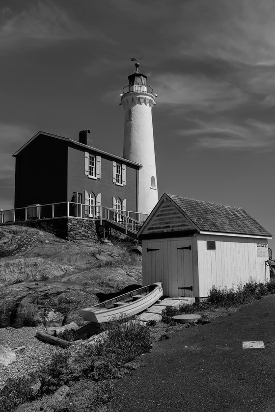 Historic Fisgard Lighthouse in Victoria BC.