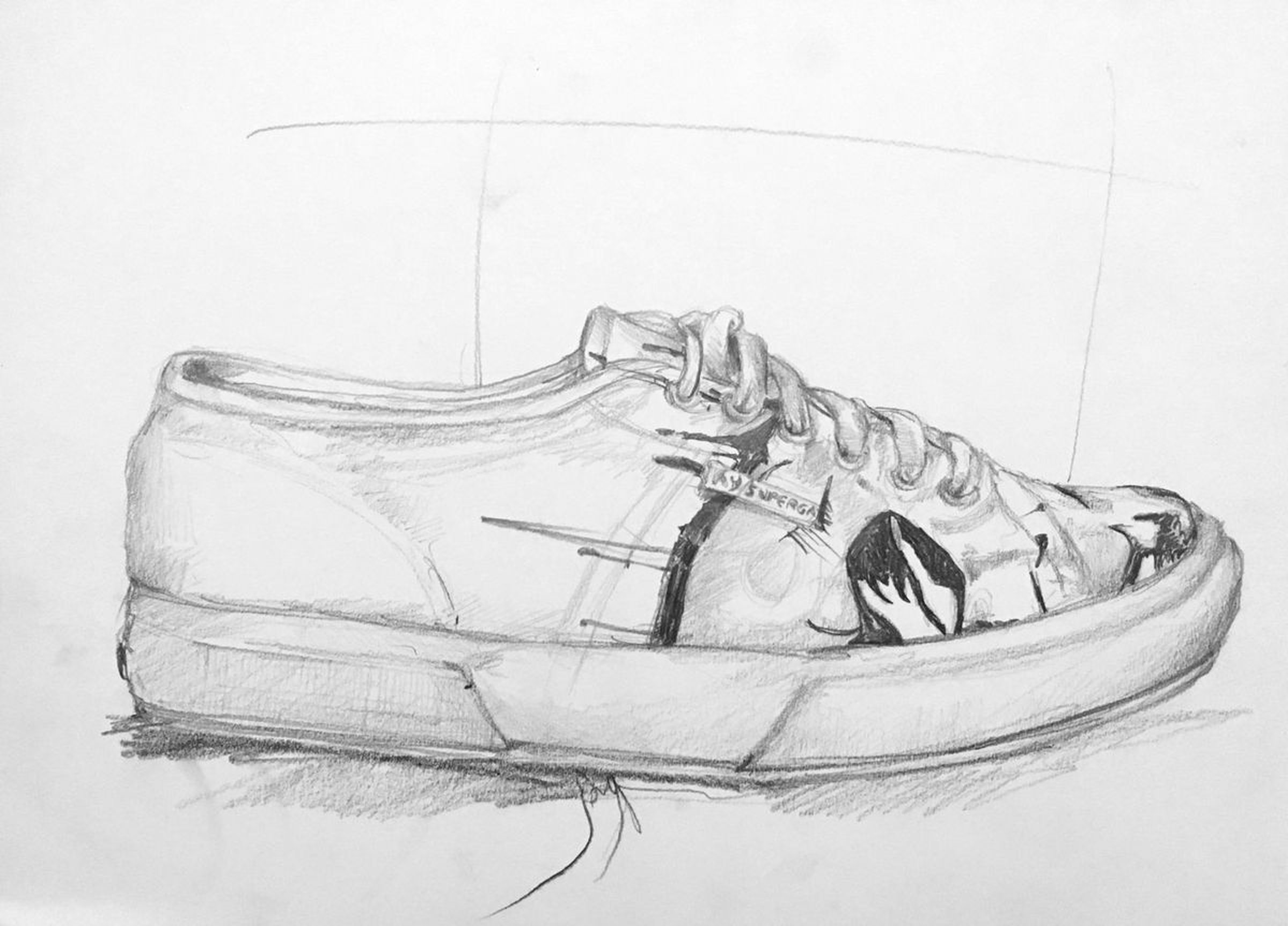 The shoes 10 2014 pencil drawing
