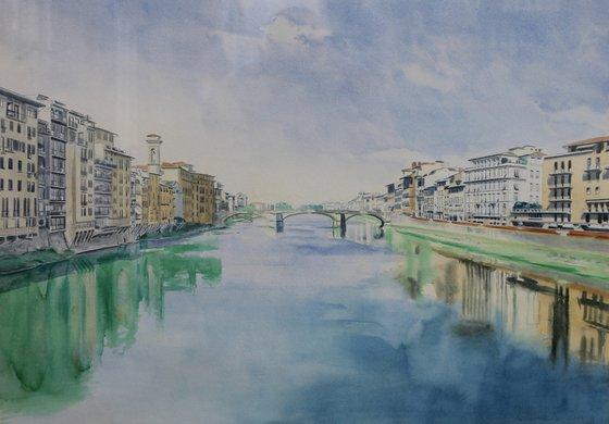 View from Ponte Vecchio Bridge, Florence