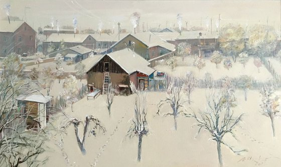 Winter From The Studio (100x60 cm)