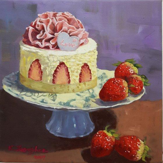 Cake & Strawberry 1