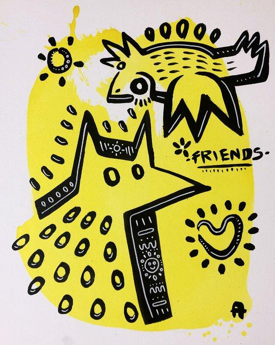 FRIENDS 40x50cm