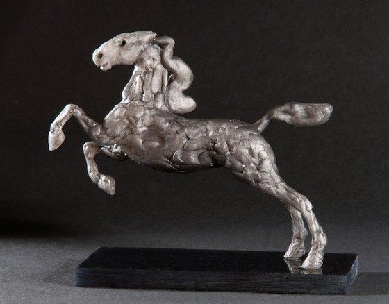 Running Horse - Steel Grey.