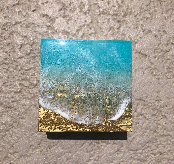 Teal Waves #42 Seascape Ocean Waves Painting